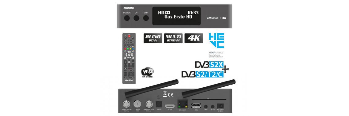 OS MIO+ 4K S2X + S2/T2/C Grey HEVC.H265