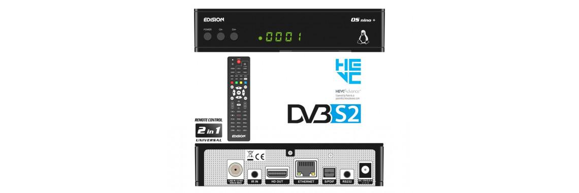 OS NINO+ DVB-S2 H.265/HEVC / LINUX/ENIGMA2