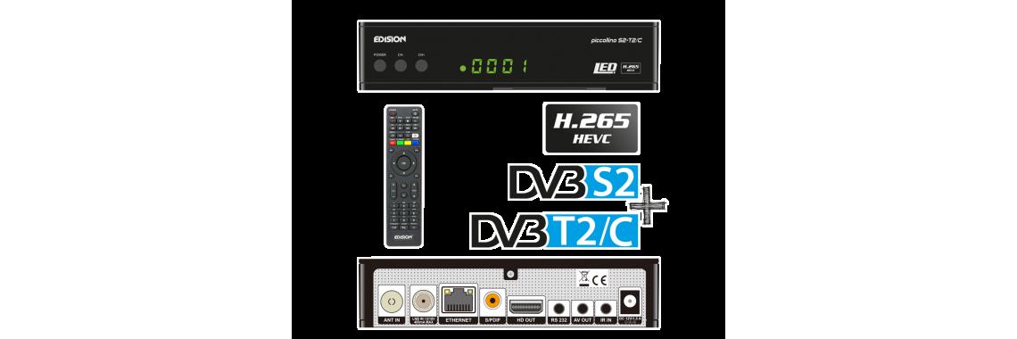 PICCOLLINO DVB-S2 DVB-T2/C CI+  H.265/HEVC